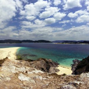 Beutiful sky and ocean from an Island near Zamami, Okinawa