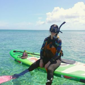 Snorkel from a paddleboard
