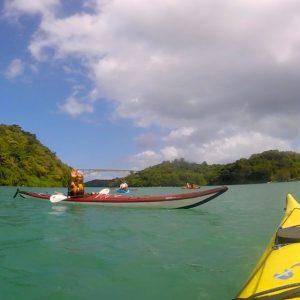 Enjoying the kayak session.